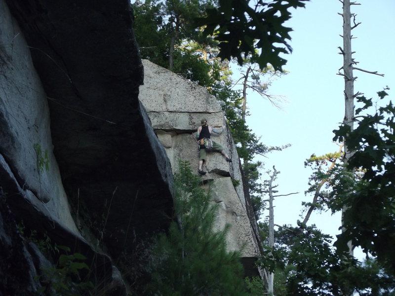 Lee Hansche On the Arete. Fantastic climb.