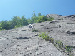 Rock Climbing Photo: Our second section of simul-climbing on Empress