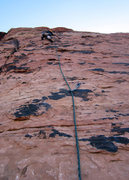 Rock Climbing Photo: Mr. D leading pitch 2.