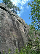 Rock Climbing Photo: One of the many cliffs scattered in the forest. Th...