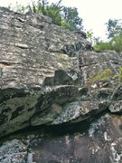 Rock Climbing Photo: A route that I started cleaning out. From what I c...