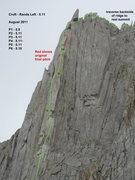Rock Climbing Photo: Front view photo topo
