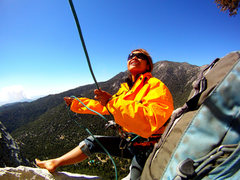 Rock Climbing Photo: At the last pitch, belaying Barry on the roof sect...