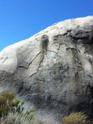 Rock Climbing Photo: Go for the nice black streak in the center of the ...