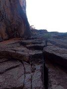 Rock Climbing Photo: Matt linking the 2nd half of p2 into p3. A fun pit...