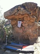 Rock Climbing Photo: AJ moving up to the roof on Born on the 4th of Jul...