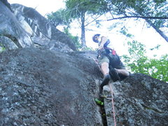 Rock Climbing Photo: Jon on the starting moves