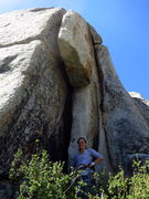 Rock Climbing Photo: Christina's psyched on the wide. 7/2012.  Photo: C...