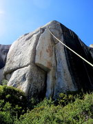 Rock Climbing Photo: The Thrill Is Gone. View of the entire route.   Ph...