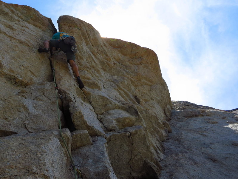 Getting into the P4 roof. 7/2012. <br> <br> Photo: Christina Freschl