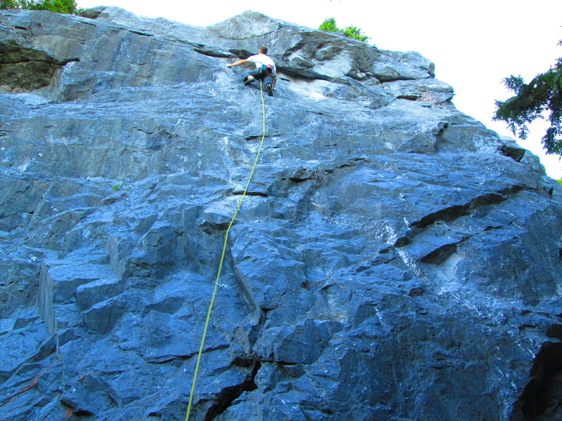 Rock Climbing Photo: Sebastian onsighting crazy yahoos shooting shit