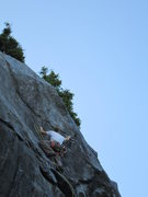 Rock Climbing Photo: Eric getting into the crux of the route