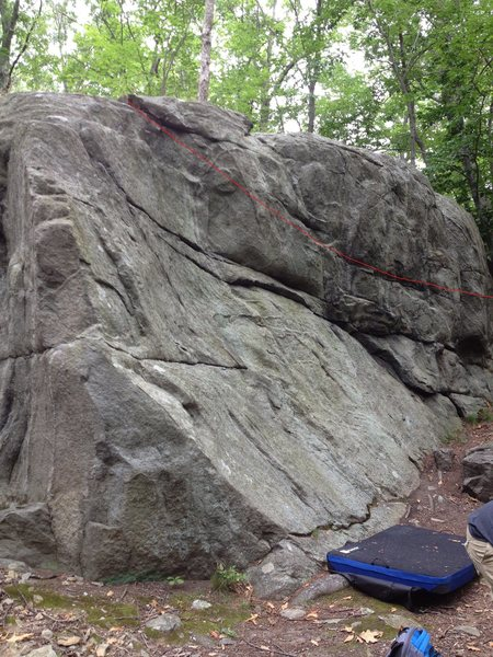 Rock Climbing Photo: Start in the back behind the trees and then follow...