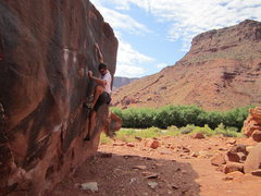 Rock Climbing Photo: Climbing in the shade.