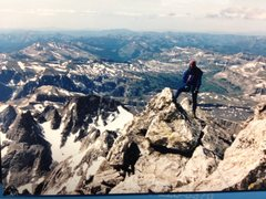 Rock Climbing Photo: Looking Back at Ken on the Exum Ridge