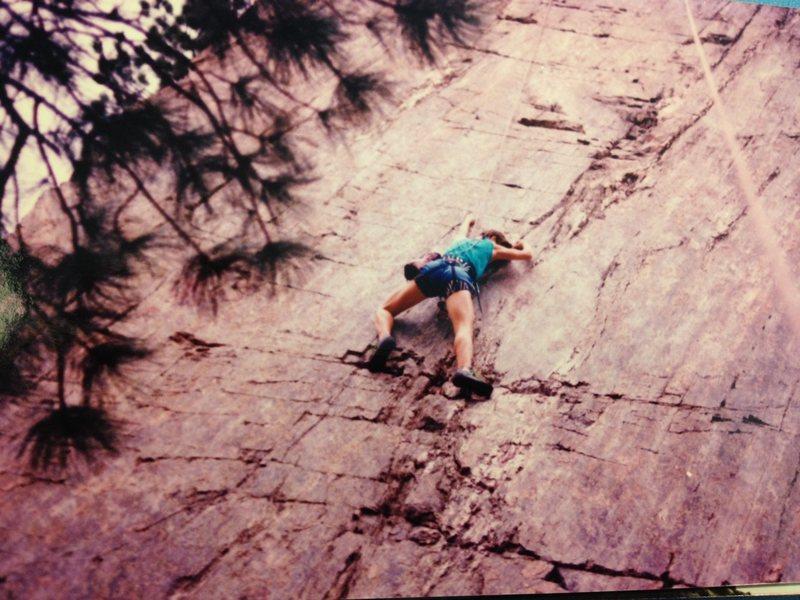 Laura Climbing in Denver