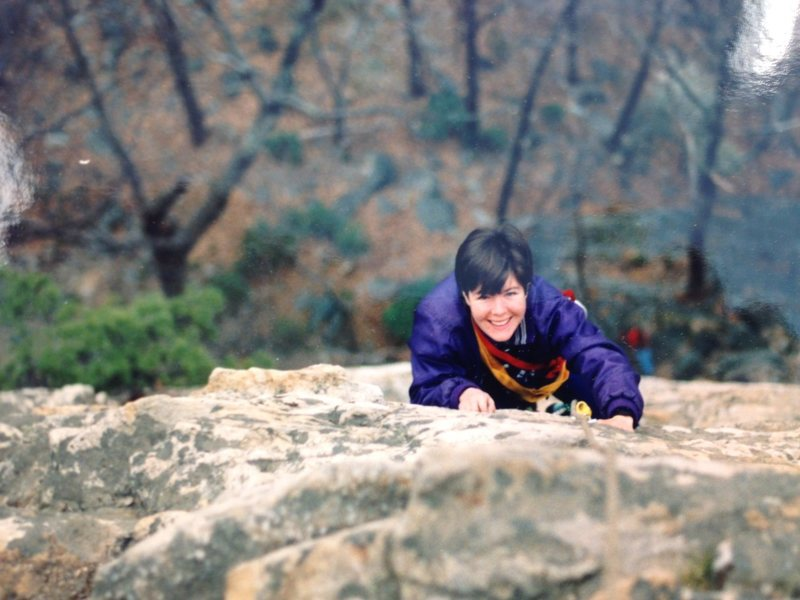 Rock Climbing Photo: Laura at the Gunks