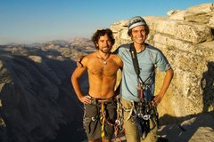 Rock Climbing Photo: Nick and I at the top of Half Dome, 2009.