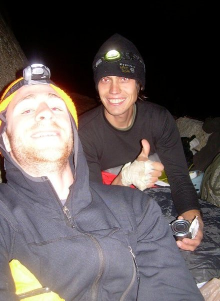 Rock Climbing Photo: Dave Weintraub and I on Dinner Ledge, after a rain...