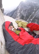 Rock Climbing Photo: Waking up on Dinner Ledge, 2010