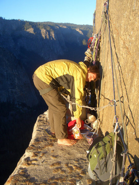 Rock Climbing Photo: Morning on El Cap Towers, 2010