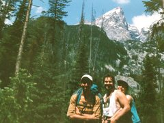 Rock Climbing Photo: Tom Brown, Laura Brown and Ken Stone on the way to...