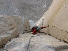 Rock Climbing Photo: Following P4, Positive Vibrations