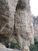 Rock Climbing Photo: 3-2-1 is on the face to right of the crack.
