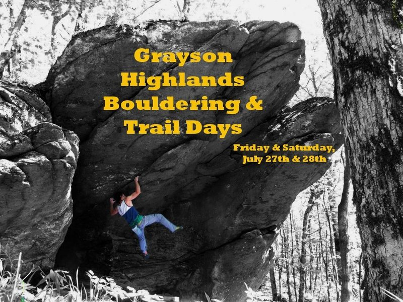 Help finish the trail to this boulder and 30+ more! Come out to the GHSP Bouldering & Trail Days on the 27th & 28th of July