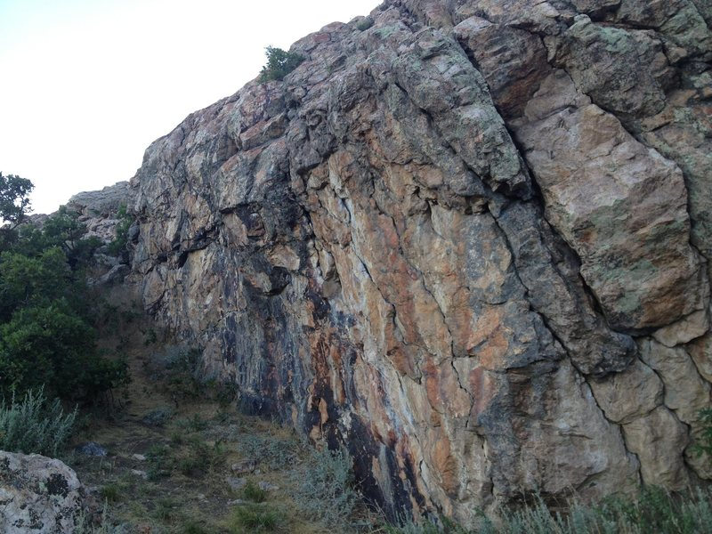 Rock Climbing Photo: As seen from the base of the boulder from the sout...