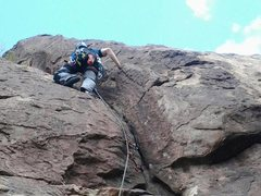Rock Climbing Photo: Mike on Pitch 2.