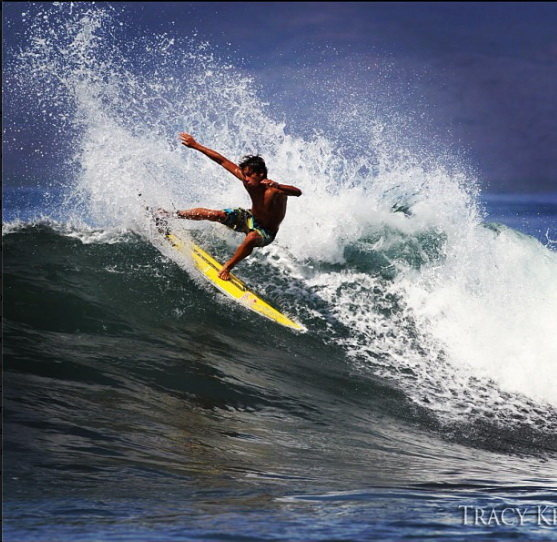 Kai Lenny on the west side last week.<br> Photo: Tracy Kraft