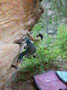Rock Climbing Photo: Chris Y. on the start of Red Kelly