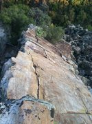 Rock Climbing Photo: A south view from the three bolt anchor on the Upp...