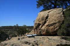 Rock Climbing Photo: H at Mantle Block,Libidozone, northern NM.