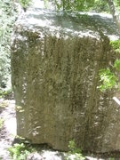 Rock Climbing Photo: South/Southwest Face.  Cleaned moss off, chalked u...