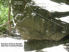 Rock Climbing Photo: East Face Traverse (Project)  Crux feels like movi...