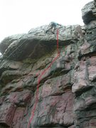 Rock Climbing Photo: Warrior's Waltz 5.11a.  Fun moves on great holds.