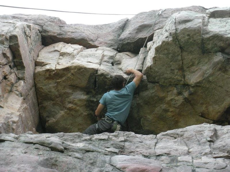 Rock Climbing Photo: Roof section above balcony center.  Significantly ...