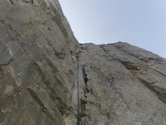 Rock Climbing Photo: The last pitch of the route Voie Frison-Roche