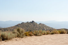 Rock Climbing Photo: Cool formations in the distance near the parking a...