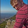 Enjoying the view atop Pilot.