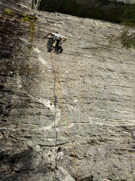 Andrew climbing.