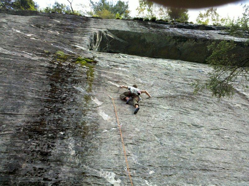 Rock Climbing Photo: Andrew climbing.