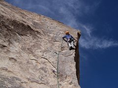 Rock Climbing Photo: my first route in j tree