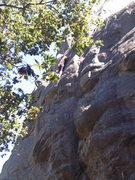 Rock Climbing Photo: Climbing Orangahang at San Ysidro