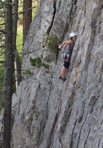 Rock Climbing Photo: Morgan Ross demonstrates proper resting technique.