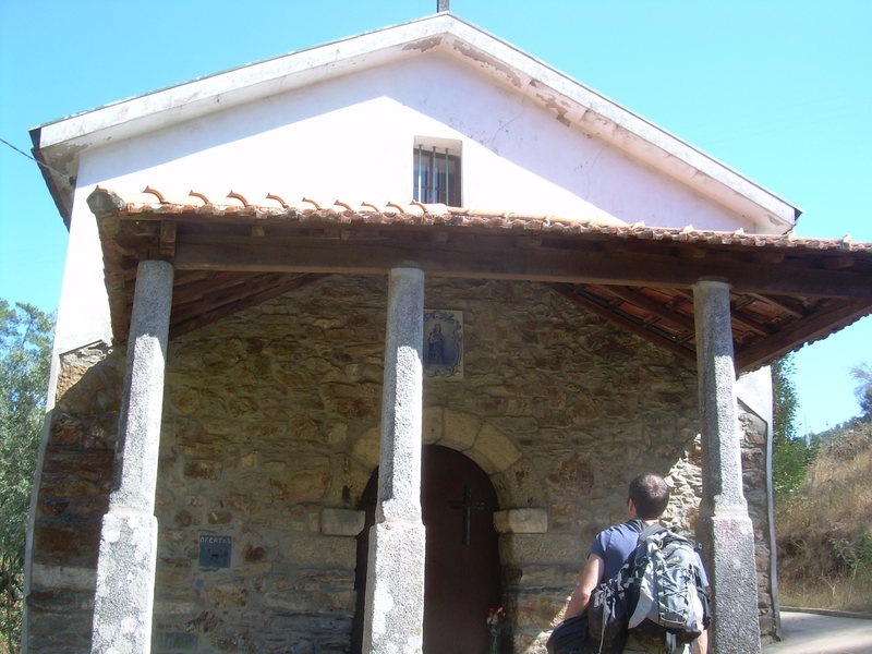 The Church by Sra do Salto River, land marker to know you are in the right spot