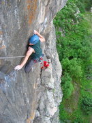Rock Climbing Photo: Myc, just finishing the traverse.
