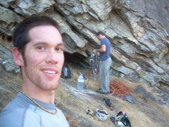 Rock Climbing Photo: Greg Dotson and myself at Sra do Salto